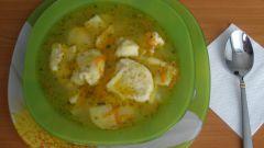 Рыбный суп с клецками по-немецки