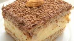 Как приготовить миндальные пирожные с ванильным кремом