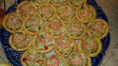 Салат в тарталетках с зеленью