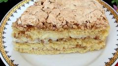 Как приготовить торт с грецкими орехами и ванильным кремом