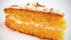 Глазированный морковный торт