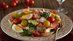 Рецепт разноцветного овощного салата