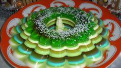 Йогуртовый десерт с желе из киви