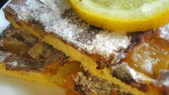 Лимонная шарлотка за 15 минут