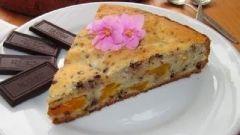 Пирог с добавлением шоколада и мандаринов