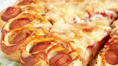 Как приготовить пирог с колбасой