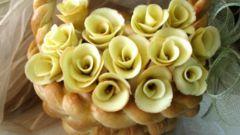 Печенье «Роза» из творожного теста