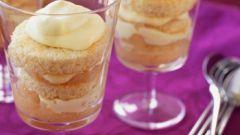 Творожный десерт с ревенем