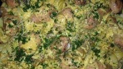 Готовим картофель слоями с куриной голенью
