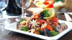 Салат с осьминогами по-кипрски