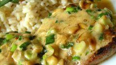 Отбивная под грибами с сыром