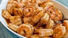 Готовим креветки в маринаде из чеснока, имбиря и чили