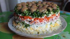 Готовим салат  «Грибная поляна»