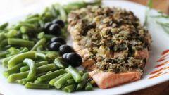 Готовим филе лосося с оливками