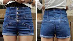 Когда, как и с чем носить завышенные джинсовые шорты
