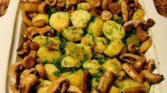 Готовим тушеную картошку с грибами