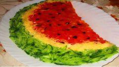Готовим вкусный салат «Арбузная долька»