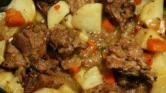 Картошка с мясом в мультиварке: самый простой рецепт