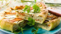Как приготовить овощной пирог с сырно-яичной заливкой