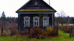 Как сломать старый бревенчатый дом