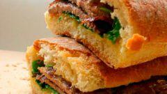 Сэндвич с говядиной и рукколой