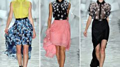 Воздушная нежность: юбка со шлейфом