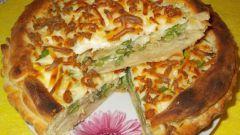 Пирог с капустой и стручковой фасолью