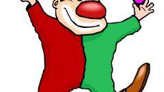 Клоун-жонглер из картона