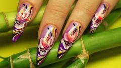 Как сделать маникюр китайская роспись