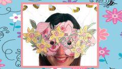 Как сделать маску из цветов с пчелами