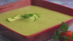 Суп-пюре из кабачков с сыром