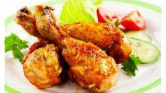 Куриные бедра с вишневым соусом