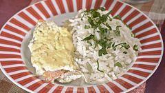 Рыба на пару с рисом в мультиварке
