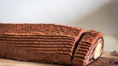 Как быстро приготовить шоколадно-банановый рулет