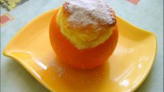 Суфле в апельсиновых «стаканчиках»