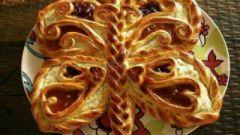 """Пирог """"Бабочка"""" с творожной начинкой"""