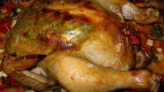 Курица с грибами и беконом