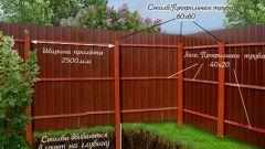 Как правильно установить забор