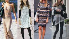 С чем носить вязаные платья