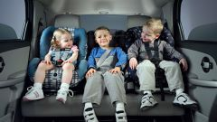 Group of children's car seats