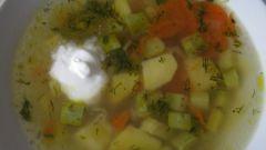 Рисовый суп с кабачками