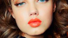Морковные губы - самый модный макияж сезона