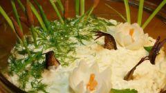 Салат  «Веселые рыбки в пруду»