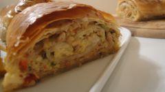 Рецепт штруделя с мясом и капустой