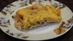 Как приготовить запеканку из макарон, сыра и куриной печени?
