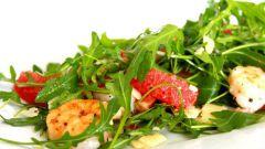 Салат с креветками и грейпрфрутом