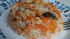 Салат «Вечерний ужин» с рисом