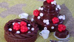 Шоколадно-цитрусовые пирожные