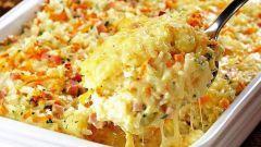 Как приготовить запеканку из спагетти и бекона