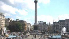 Где стоит памятник Нельсону
